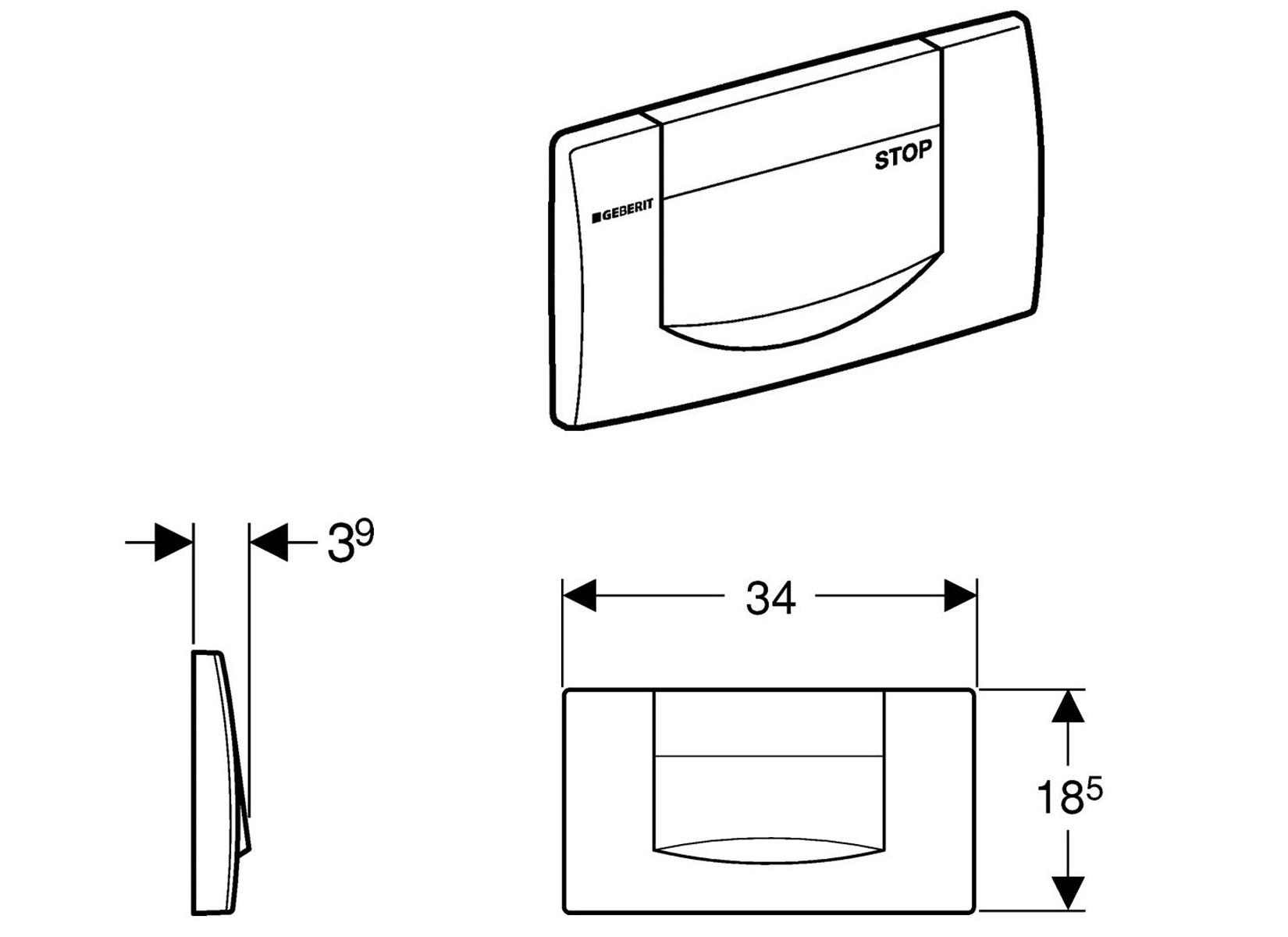 geberit dr ckerplatte 200f seidenglanz chrom. Black Bedroom Furniture Sets. Home Design Ideas