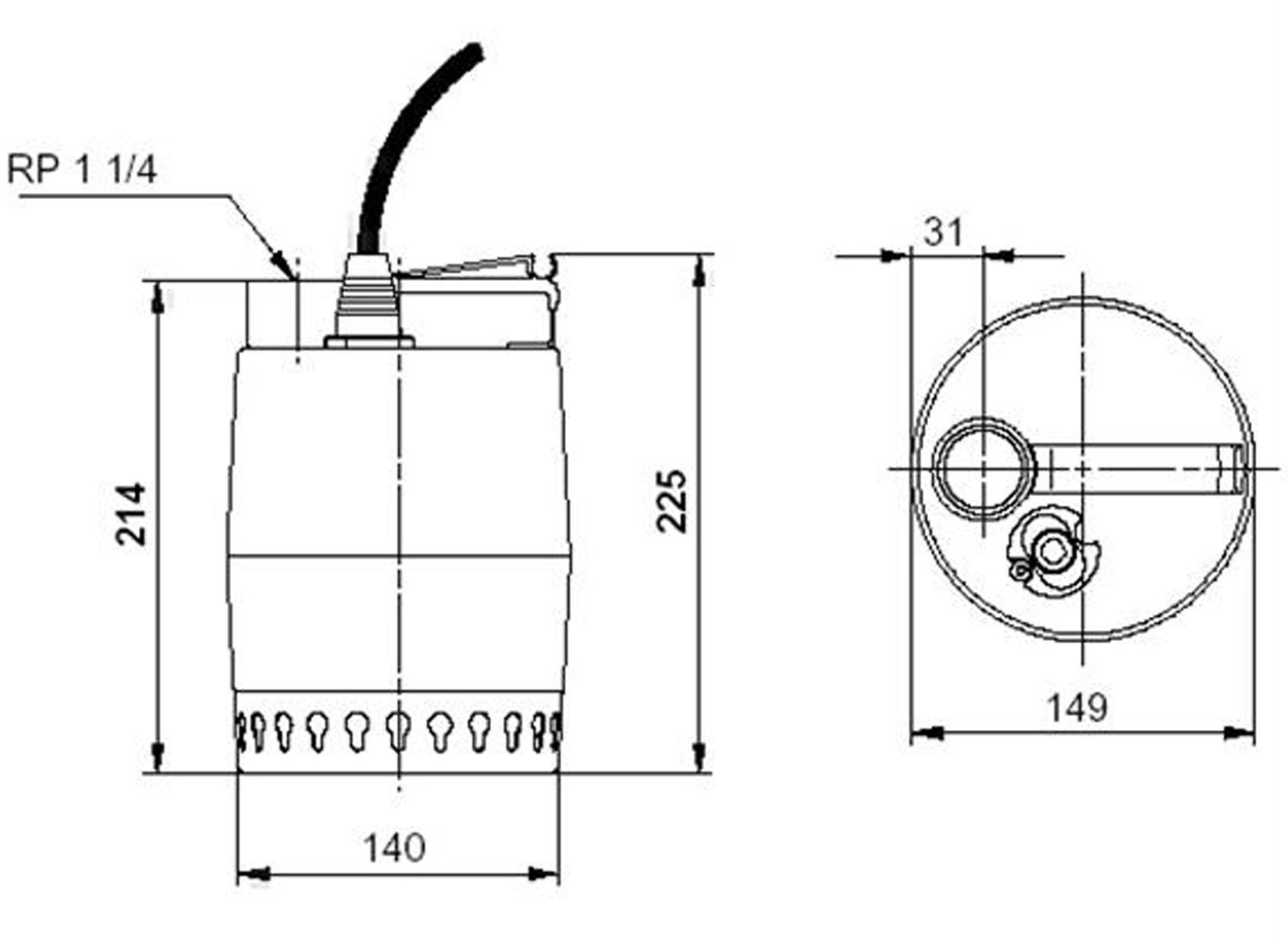 Grundfos Unilift Kp150 M1 Tauchpumpe 230v 10 M Schmutzwasserpumpe Wiring Diagrams Produkt Schmutzwasser