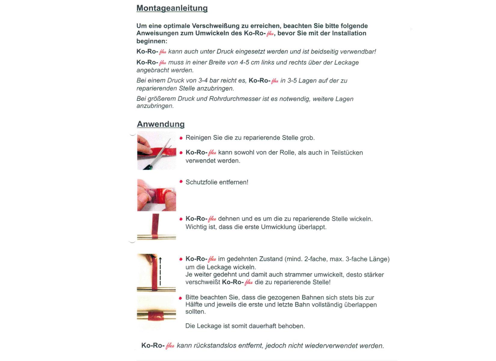 Koch koroflex rohrbruch reparaturband dichtband for Koch haustechnik
