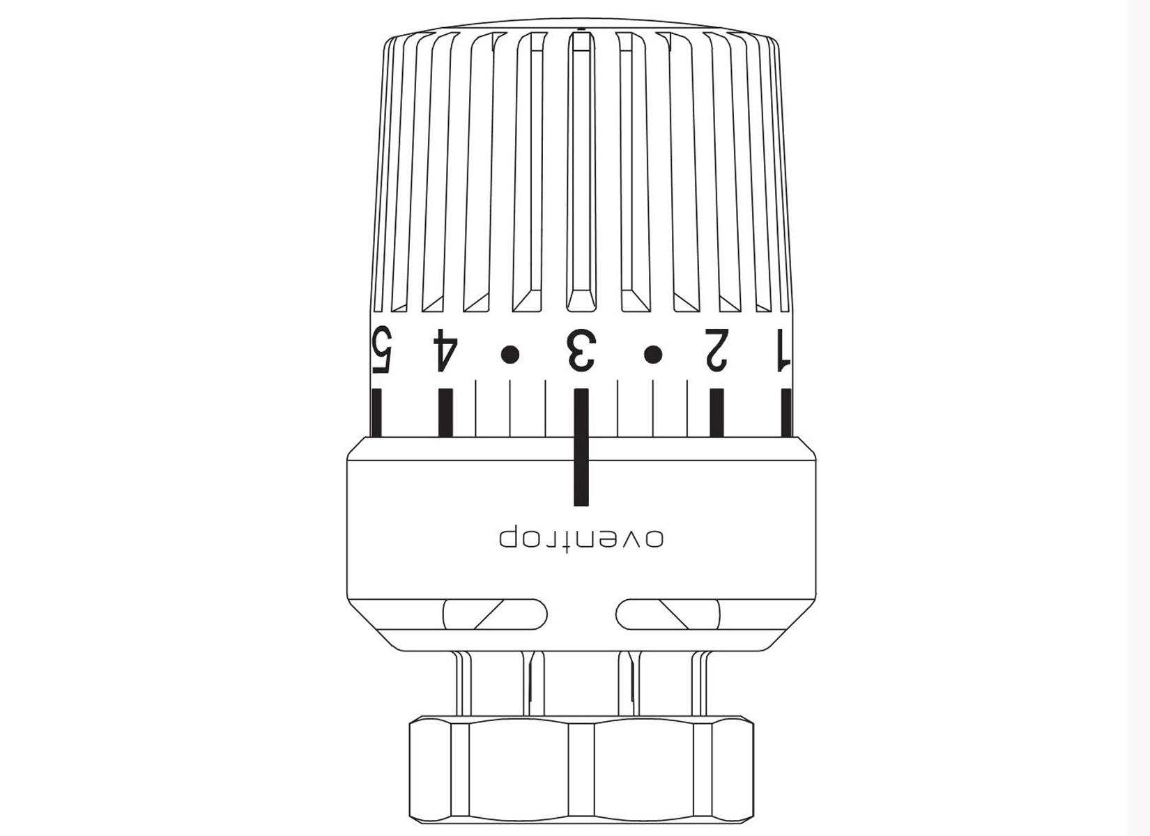 oventrop thermostatkopf uni ldvl 26 mm f r danfoss thermostatventil ravl 4026755365382 ebay. Black Bedroom Furniture Sets. Home Design Ideas