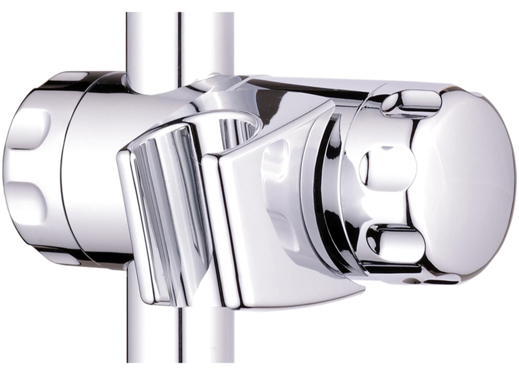 ATCO® Duschstange Gleiter Halter Wandstange passend für 22 mm Brausenstangen