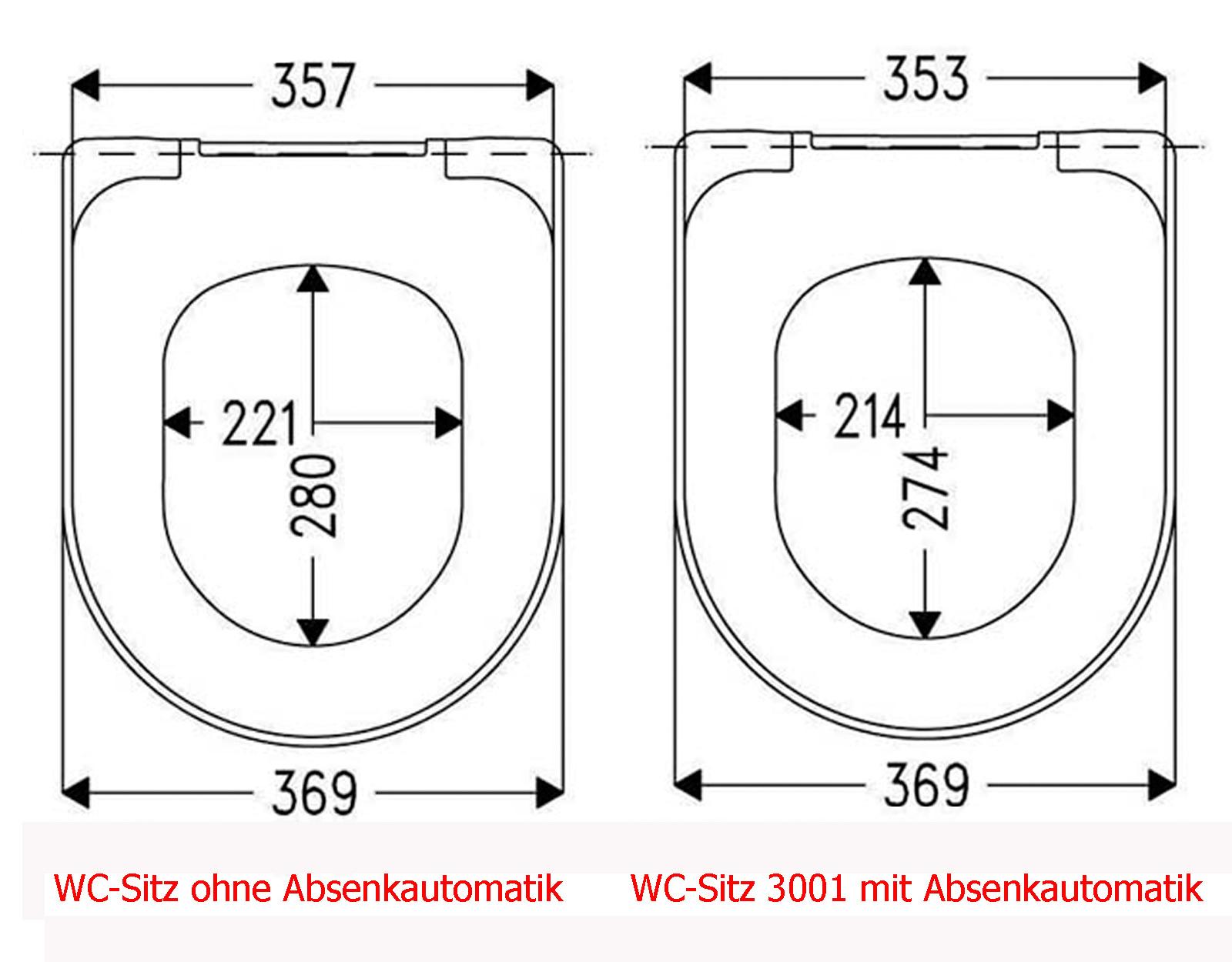 Sanibel WC Sitz 3001 weiss mit//ohne Softclose Absenkautomatik Take Off Scharnier