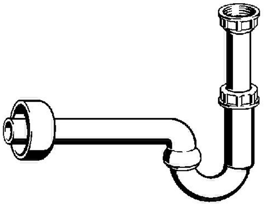 Viega Waschtisch Geruchsverschluss 32mm Röhrensiphon Sifon Siphon Ablaufgarnitur