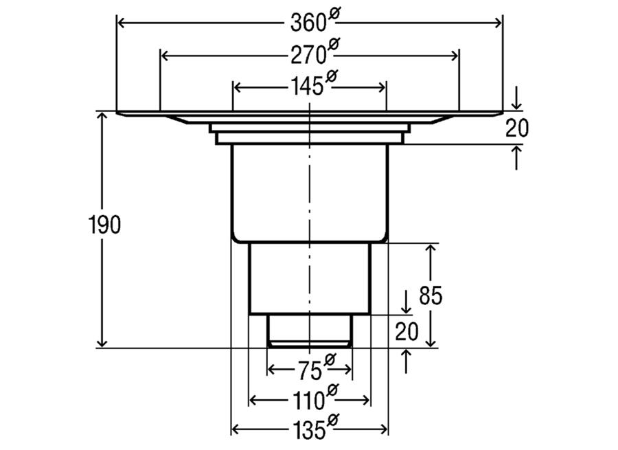 viega advantix bodenablauf senkrecht dn 70 100 badablauf balkonablauf 557201 ebay. Black Bedroom Furniture Sets. Home Design Ideas
